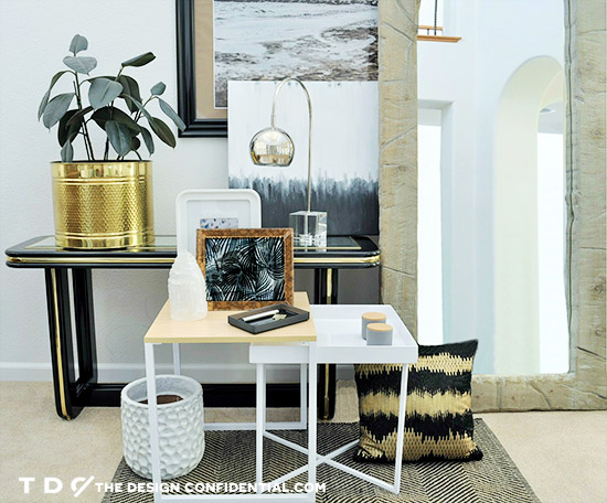 Black and White 80's Glam Space for Nesting // One Piece with Three Different Style Personalities