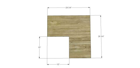 Bookcase Top Diagram for The Design Confidential for Free DIY Furniture Plans to Build a Pottery Barn Kids Inspired Cameron Corner Bookcase