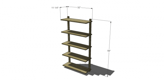 Free Diy Furniture Plans To Build A West Elm Inspired Wall Mounted Bookcase The Design