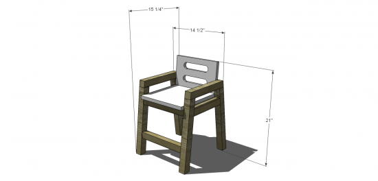 Dimensions for The Design Confidential Free DIY Furniture Plans: How to Build a Children's Two Tone Chair