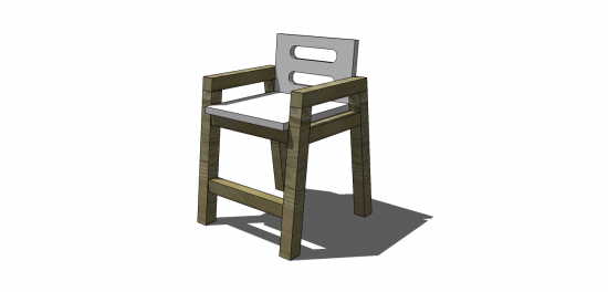 The Design Confidential Free DIY Furniture Plans: How to Build a Children's Two Tone Chair