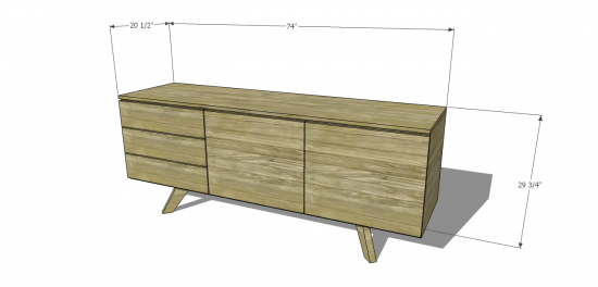 You Can Build This! The Design Confidentials Free DIY Furniture Plans to Build a Mid-Century Modern Credenza