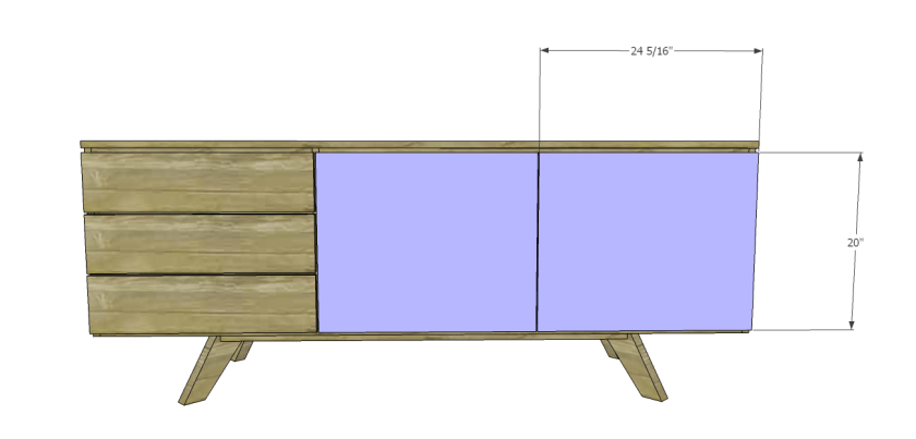 You Can Build This! Easy DIY Furniture Plans from The Design Confidential with Complete Instructions on How to Build a Mid-Century Modern Credenza via @thedesconf