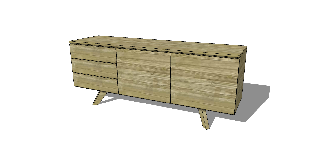Free diy furniture plans to build an mid century modern credenza