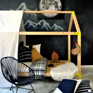 You Can Build This! Easy DIY Furniture Plans from The Design Confidential with Complete Instructions on How to Build an Indoor/Outdoor House Bed Playhouse via @thedesconf