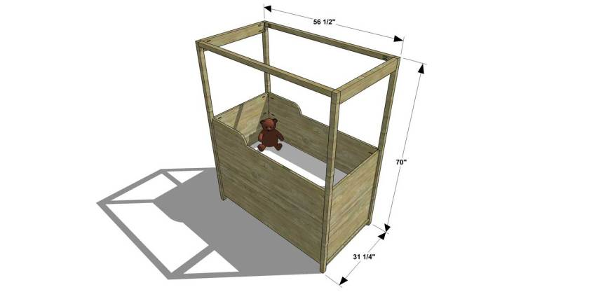You Can Build This! Easy DIY Furniture Plans from The Design Confidential with Complete Instructions on How to Build Canopy Crib via @thedesconf