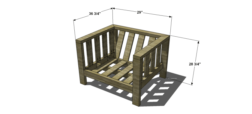 You Can Build This! Easy DIY Plans from The Design Confidential with Complete Instructions on How to Build a Reef Outdoor Chair via @thedesconf