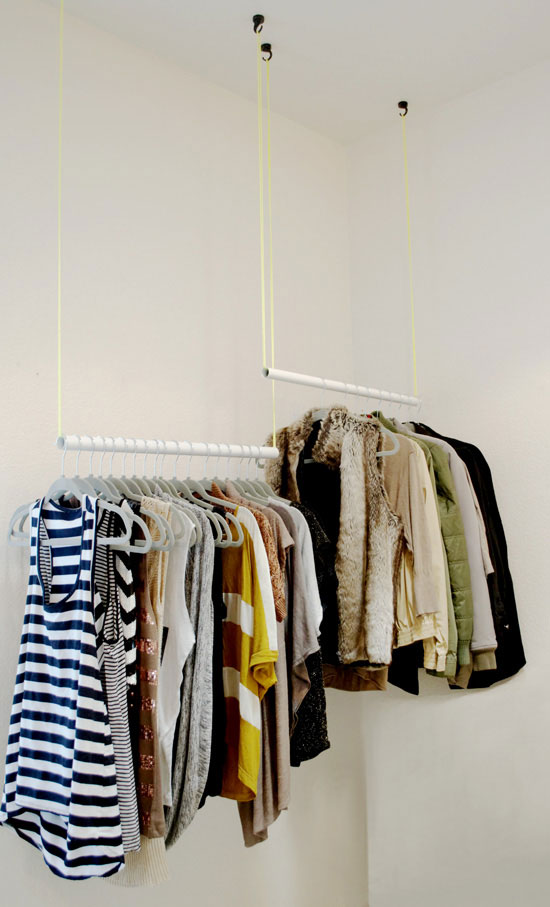 Simplified and Streamlined Closet for Easy DIY from The Design Confidential for Sleek Hanging Closet Rods