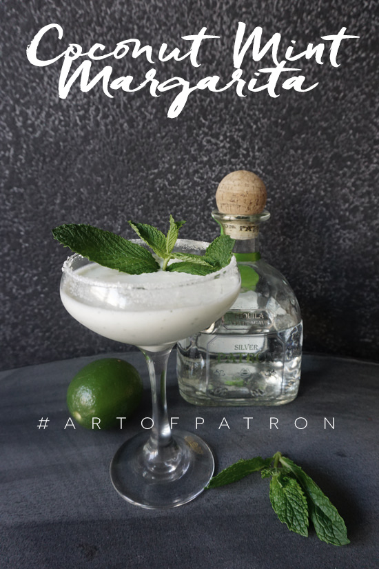 The Design Confidential and The Art of Patrón Coconut Mint Margarita Recipe