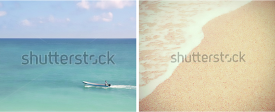 Tulum Art Print and Sand and Sea Beach Image for Styling Secret // Easy + Inexpensive DIY Over-Sized Art Solution