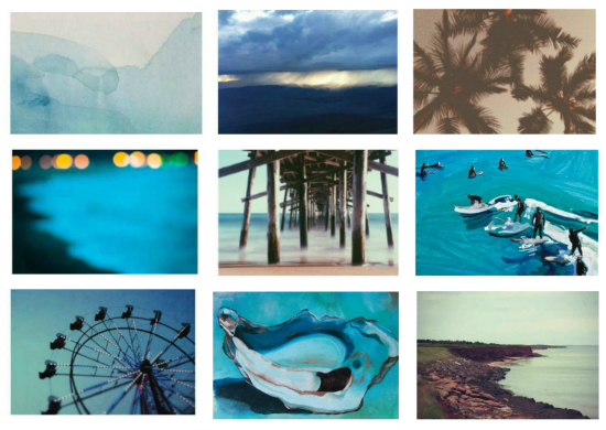 Weekend Wall Challenge with Domino + Minted / Beach Blues Ocean Palm Trees