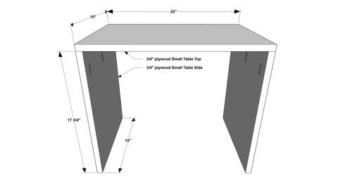 Free DIY Furniture Plans // How to Build Compression Nesting Tables