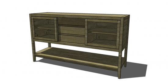 free diy furniture plans to build a crate and barrel inspired presley media console