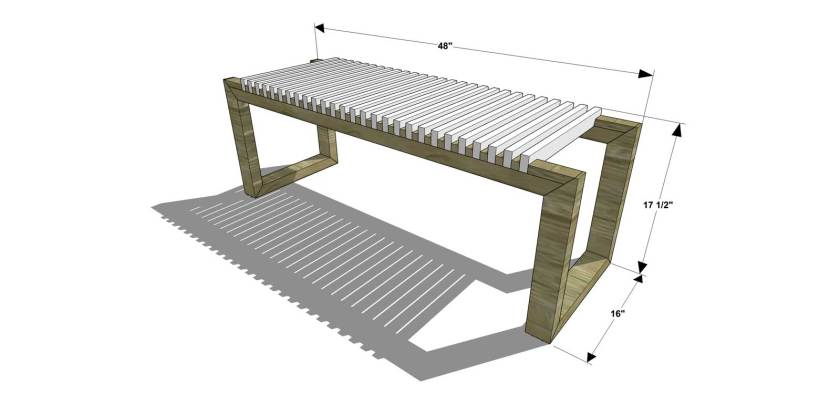You Can Build This! Easy DIY Furniture Plans from The Design Confidential with Complete Instructions on How to Build a Cutter Bench via @thedesconf