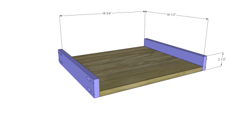Drawer Bottom and Sides for Free DIY Furniture Plans // How to Build a Hughes Desk