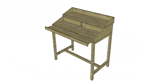 You Can Build This! Easy DIY Furniture Plans from The Design Confidential with Complete Instructions on How to Build a Bromley Desk via @thedesconf