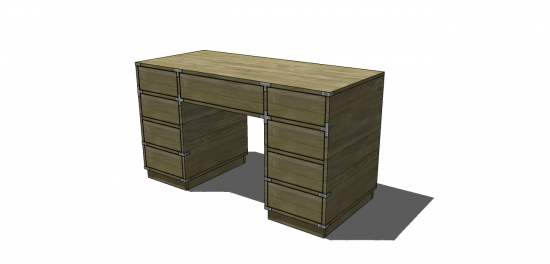 You Can Build This! Easy DIY Furniture Plans from The Design Confidential with Complete Instructions on How to Build a Campaign Desk via @thedesconf