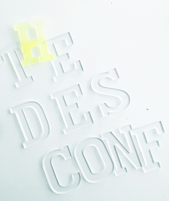 The Design Confidential DIY // Neon Acrylic Lucite Typography Art Installation