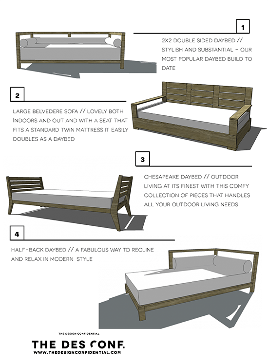 Four DIY Outdoor Daybeds to Liven up Your Outdoor Living ... on Living Spaces Outdoor Daybed id=77786