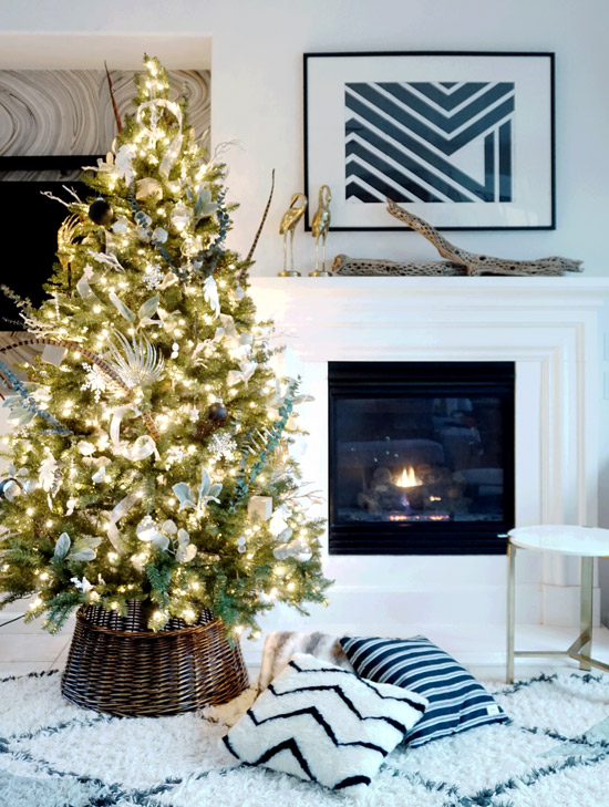 The Design Confidential Modern Boho Deco Christmas Tree