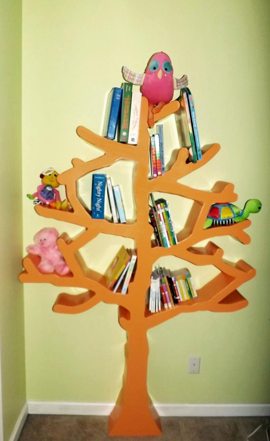 Reader Showcase: Roberts Tree Shaped Bookshelf