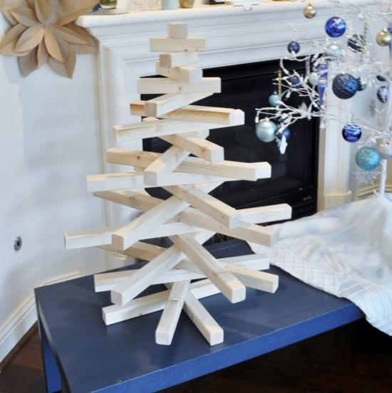 DIY Modern Wooden Christmas Tree - The Design Confidential