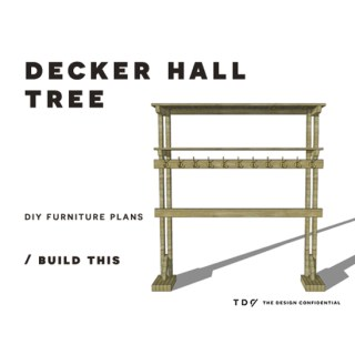 You Can Build This! Easy DIY Furniture Plans from The Design Confidential with Complete Instructions on How to Build a Decker Hall Tree via @thedesconf