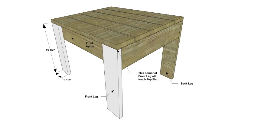 You Can Build This! Easy DIY Furniture Plans from The Design Confidential with Complete Instructions on How to Build a Modern Adirondack Ottoman via @thedesconf