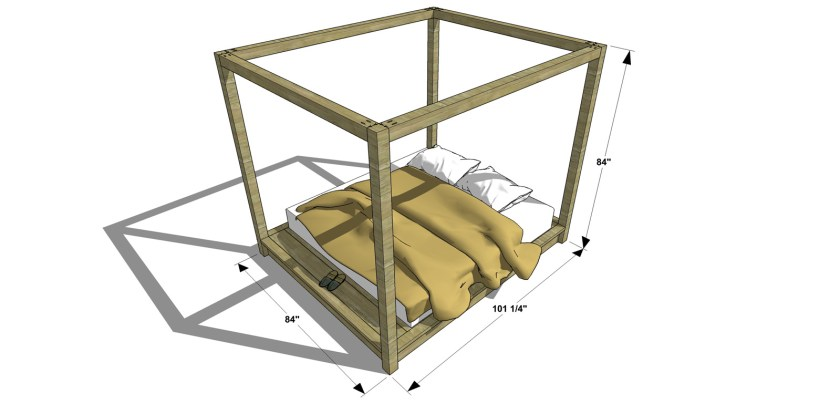 free diy furniture plans how to build a king sized