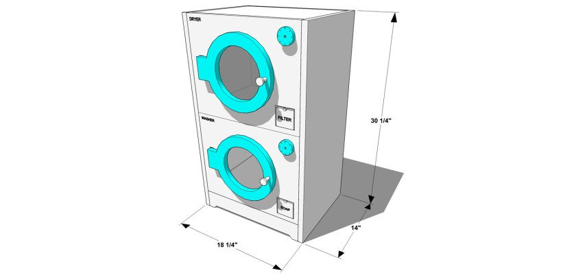 You Can Build This! Easy DIY Furniture Plans from The Design Confidential with Complete Instructions on How to Build a Retro Washer and Dryer via @thedesconf