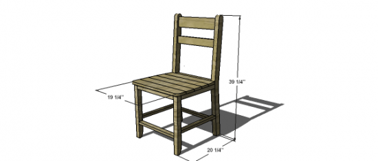 You Can Build This! Easy DIY Furniture Plans from The Design Confidential with Complete Instructions on How to Build a Shabby Chic Cottage Dining Chair via @thedesconf