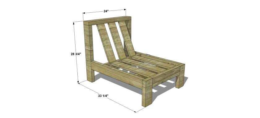 diy patio sofa plans. the design confidential free diy furniture plans // how to build an armless chair for diy patio sofa u