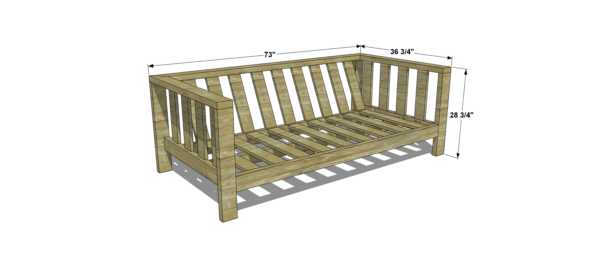 Dimensions For Free DIY Furniture Plans // How To Build An Outdoor Reef  Sofa With
