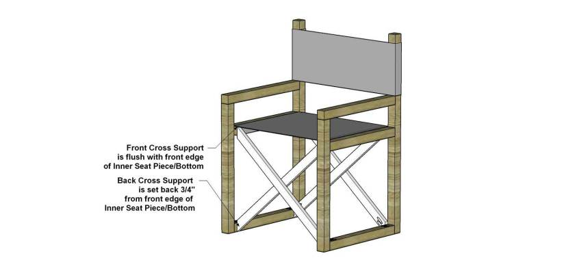 You Can Build This! Easy DIY Furniture Plans from The Design Confidential with Complete Instructions on How to Build an Indoor / Outdoor Director's Chair via @thedesconf