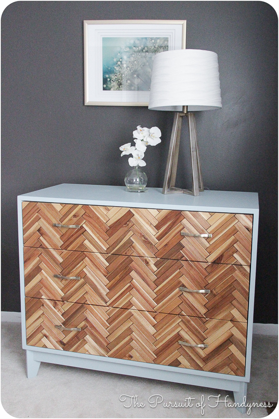 Real Reader Showcase for The Design Confidential Parquetry Dresser Herringbone Chest