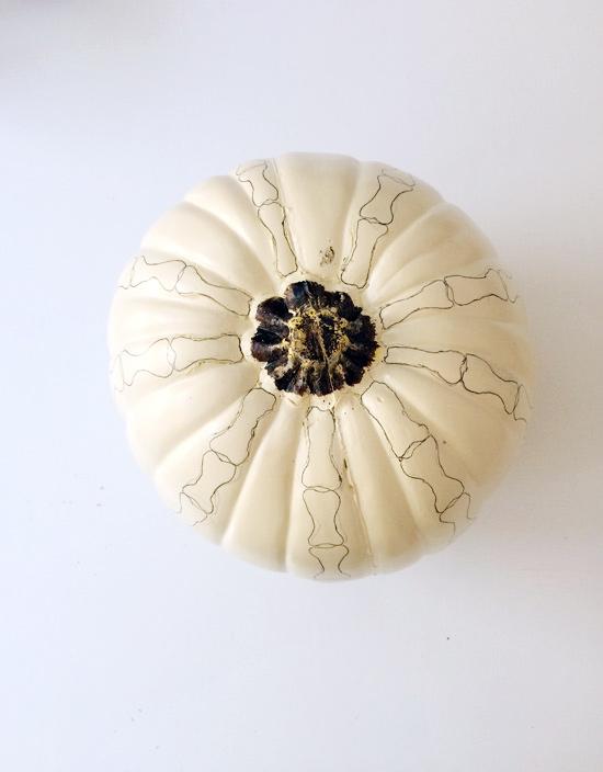 The Design Confidential DIY // Spooky Skeleton Pumpkins