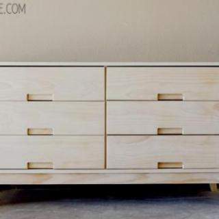You Can Build This! Easy DIY Furniture Plans from The Design Confidential with Complete Instructions on How to Build a Steppe 6 Drawer Dresser via @thedesconf
