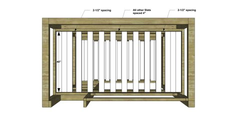Bed Slats for The Design Confidential Free DIY Furniture Plans // How to Build a Duet Bunk Bed