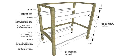 Long Rails and Cleats for The Design Confidential Free DIY Furniture Plans // How to Build a Duet Bunk Bed