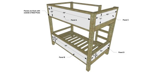 Back View Panels for The Design Confidential Free DIY Furniture Plans // How to Build a Duet Bunk Bed