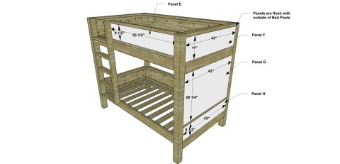 Front View Panels for The Design Confidential Free DIY Furniture Plans // How to Build a Duet Bunk Bed
