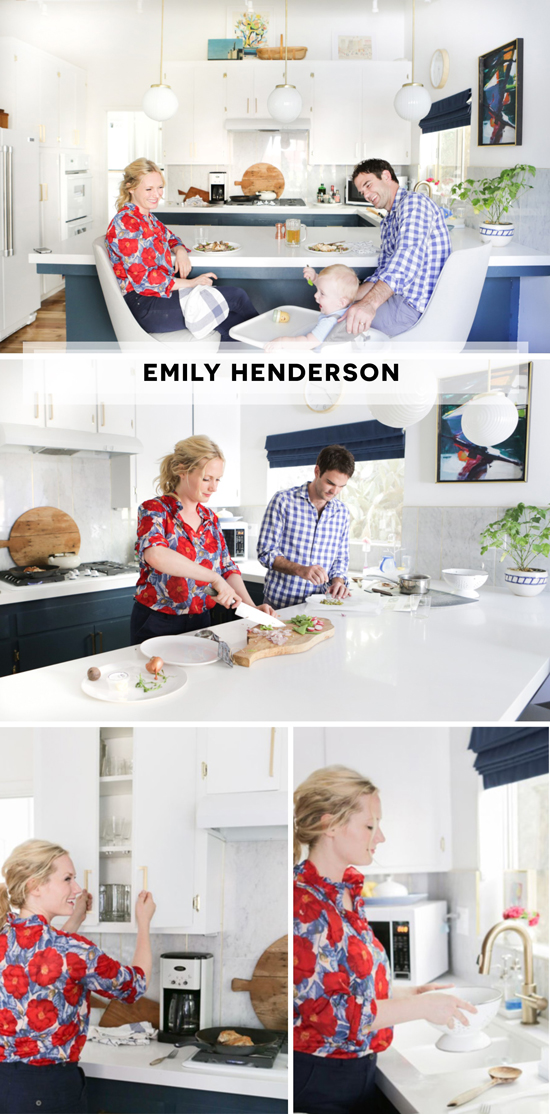 Emily Henderson of Style By Emily Henderson Kitchen Featured on The Design Confidential White Brass Wood Gold Marble