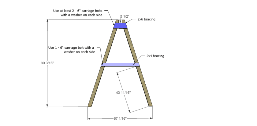 You Can Build This! Easy DIY Furniture Plans from The Design Confidential with Complete Instructions on How to Build an A-Frame Swing via @thedesconf