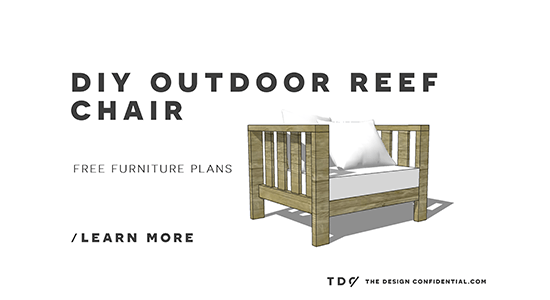 Free DIY Furniture Plans: How To Build An Outdoor Reef Chair With  Modifications For Cushions From Target   The Design Confidential