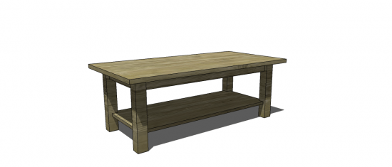 The Design Confidential Free Woodworking Plans to Build a PotteryBarn Inspired Cheswick Coffee Table