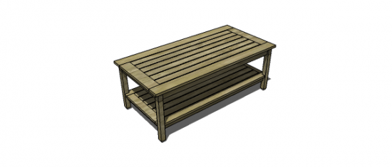 Free Woodworking Plans To Build A Potterybarn Inspired Chesapeake - Pottery barn outdoor coffee table