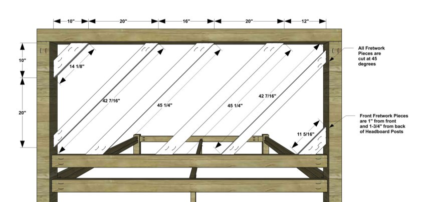 You Can Build This! Easy DIY Furniture Plans from The Design Confidential with Complete Instructions on How to Build a King Sized Fretwork Bed via @thedesconf