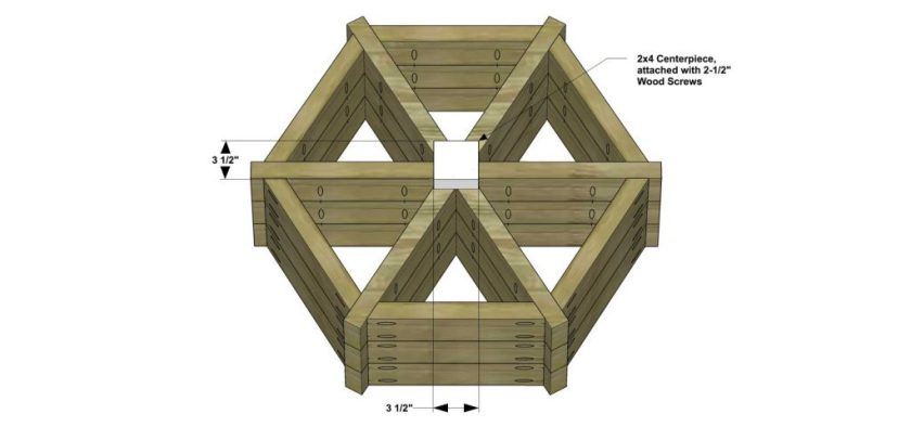 You Can Build This! Easy DIY Plans from The Design Confidential Free DIY Furniture Plans // How to Build An Outdoor Herb Wheel Planter via @thedesconf