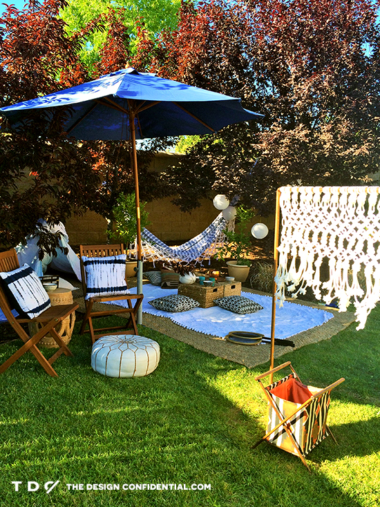 Elegant Outdoor Games and Fun with Relaxing Outdoor Living Space for the Home Depot Style Challenge Outdoor
