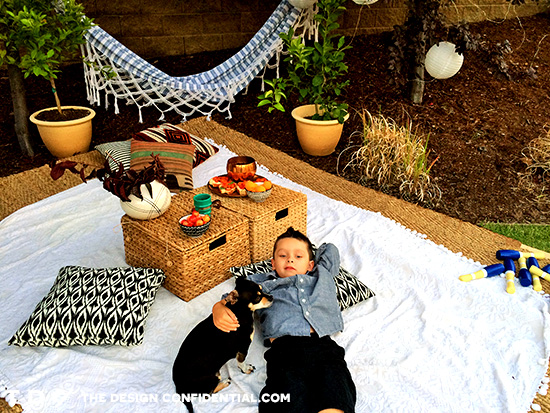 Lounge Area for Kids and Pets for the Home Depot Style Challenge Outdoor Games Edition